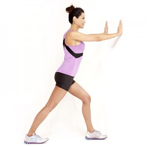 wall calf stretch