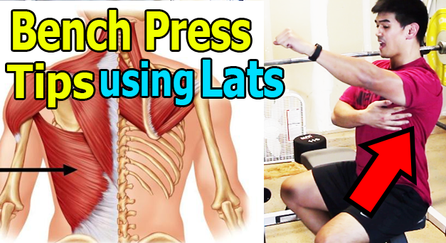 how to bench press using lats